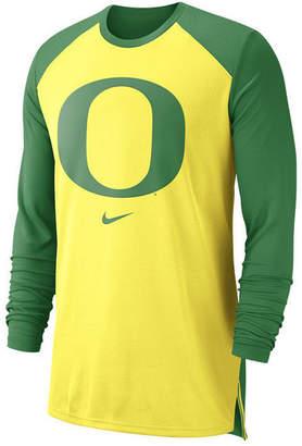Nike Men Oregon Ducks Breathe Shooter Long Sleeve T-Shirt