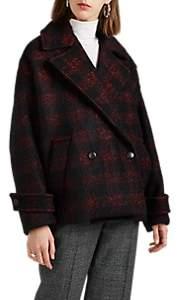 Women's Tesye Buffalo-Checked Wool-Blend Coat Size 36