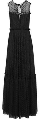 Milly Ruffle-Trimmed Point D'esprit Gown