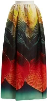 Mary Katrantzou Egret Folk-print silk-organza maxi skirt