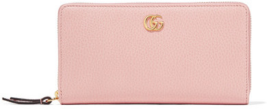 Gucci Gucci - Textured-leather Continental Wallet - Pastel pink