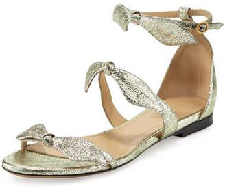 Chloé Mike Bow Metallic Flat Sandal