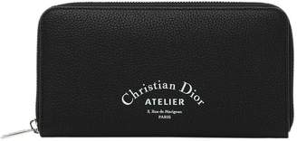 Christian Dior Zip-around Wallet With Logo Print