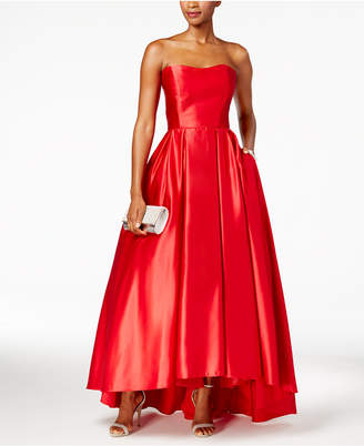 Betsy & Adam Strapless High-Low Ball Gown $259 thestylecure.com