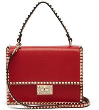 Valentino Rockstud No Limit Leather Cross Body Bag - Womens - Red