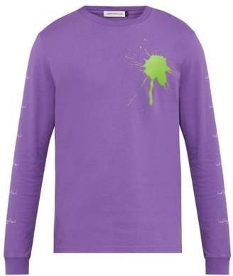 Undercover The Larms Splat Cotton Jersey T Shirt - Mens - Purple
