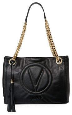 Mario Valentino Valentino By Luisa 2 Sauvage Leather Tassel Shoulder Tote Bag