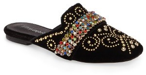 Women's Jeffrey Campbell Ravis Embellished Loafer Mule $149.95 thestylecure.com