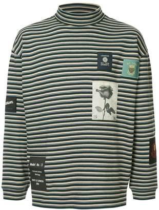 Kent & Curwen breton stripe rollneck