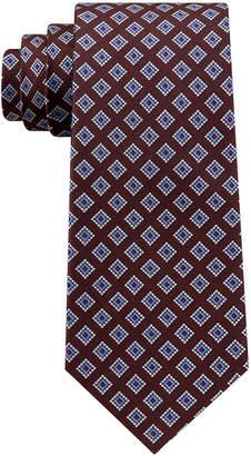 Club Room Men's Diamond Dot Neat Silk Tie, Created for Macy's