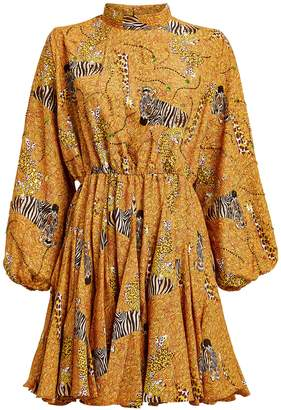 Rhode Resort Caroline Serengeti Print Mini Dress