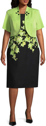 MAYA BROOKE Maya Brooke Embellished Jacket Dress - Plus