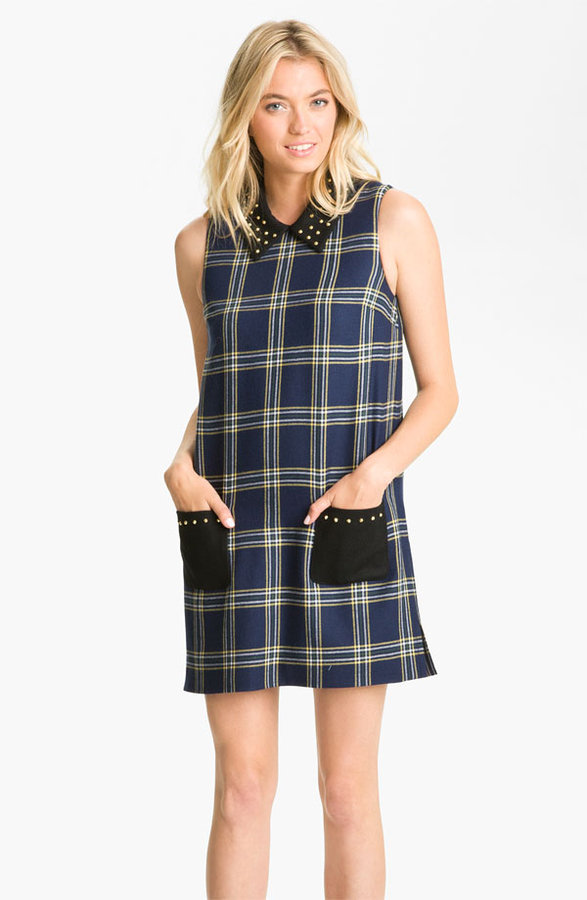Juicy Couture Studded Plaid Shift Dress