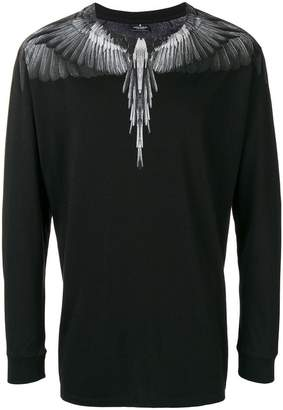 Marcelo Burlon County of Milan bird feathers knitted top