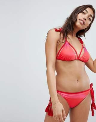 Vero Moda geo print tie side bikini bottom