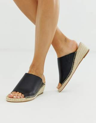 Matt & Nat espadrille slip on wedges in black