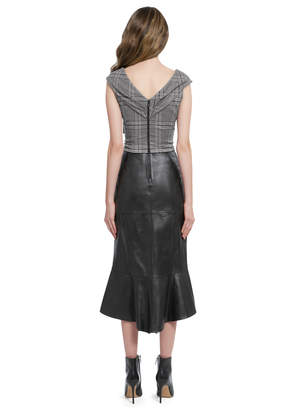 Alice + Olivia DEANDRA WRAP SHOULDER BUSTIER