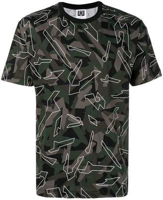 Les Hommes Urban camouflage patterned T-shirt