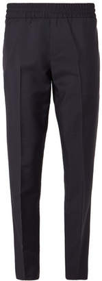 Acne Studios Navy Ryder Wool And Mohair-blend Drawstring Trousers - Navy