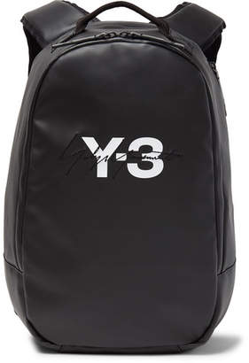 Y-3 Embroidered Logo-Print Faux Leather Backpack