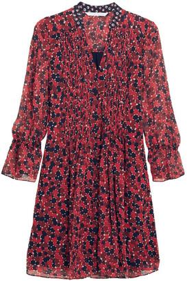 Diane von Furstenberg - Kourtni Printed Silk-georgette Mini Dress - Red $468 thestylecure.com