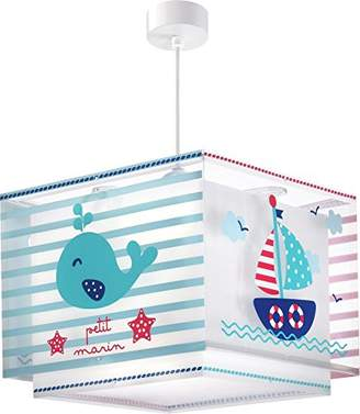 Camilla And Marc Dalber, 43422, little sailor hanging lamp, plastic, blue, 30.5 x 30.5 x 25 cm