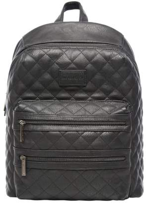 The Honest Company City Quilted Faux Leather Diaper Backpack