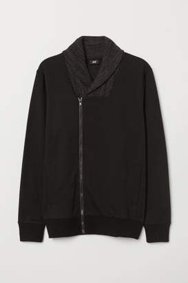 H&M Shawl-collar Cardigan - Black