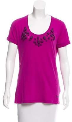 Burberry Embellished Short Sleeve Top