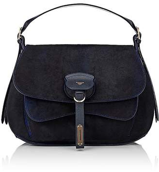 Fontana Milano 1915 Women's Wight Calf Hair Medium Saddle Hobo Bag