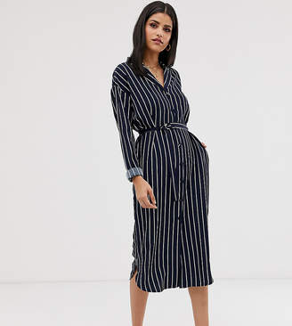 Y.A.S Tall stripe shirt dress
