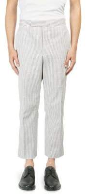 Thom Browne Pinstriped Cotton Cropped Pants