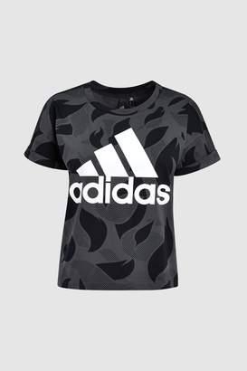 Next Womens adidas Dark Grey Logo Tee