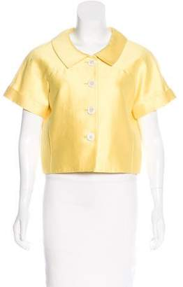 Oscar de la Renta Short Sleeve Evening Jacket