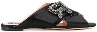Rochas embellished detail mules