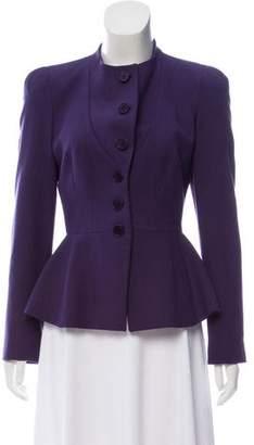 Emporio Armani Virgin Wool Collarless Jacket