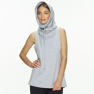 Women's Jezebel City French Terry Sleeveless Cowlneck Hoodie $54 thestylecure.com