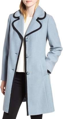 Kate Spade Back Bow Boiled Wool Coat