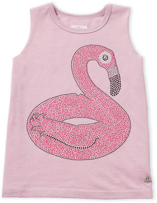 Butter Shoes Girls 7-16) Studded Flamingo Tank