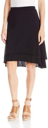 Mod-o-doc Women's Cotton Jersey Double Layer Skirt