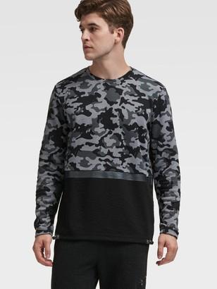 DKNY Camo-Print Mixed-Media Pullover