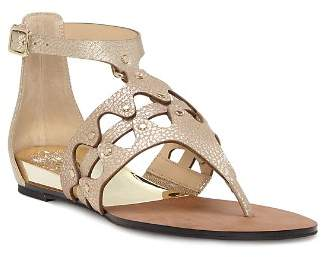 Vince Camuto Women's Arlanian Leather Cutout Demi Wedge Sandals