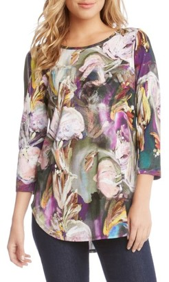 Women's Karen Kane Painted Floral Tee $98 thestylecure.com