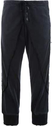 Greg Lauren side stripe cropped trousers