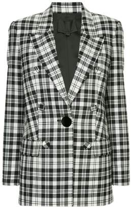 Alexander Wang single breasted plaid blazer