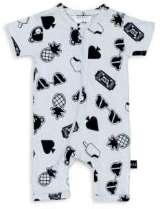 Huxbaby Baby Boy's Patches Short Zip Romper