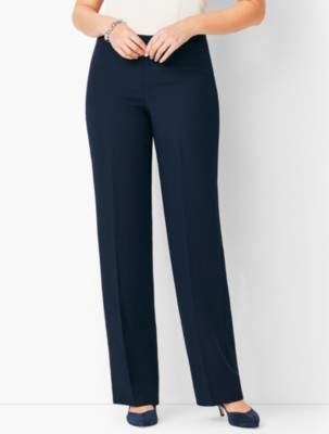 Talbots Seasonless Crepe Wide-Leg Pants - Curvy Fit