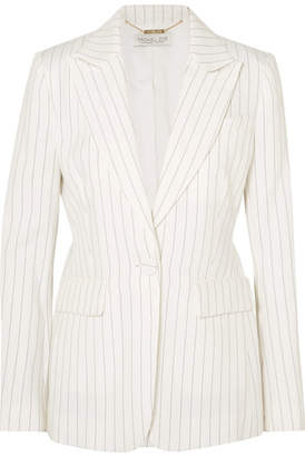 Rachel Zoe Dominique Pinstriped Crepe Blazer - White