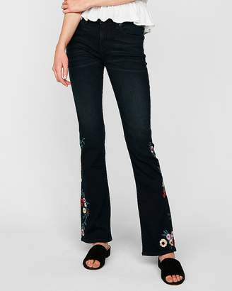 Express Mid Rise Embroidered Supersoft Stretch+ Barely Boot Jeans
