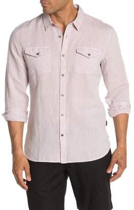 John Varvatos Foster Regular Fit Army Shirt